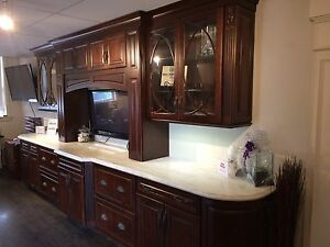 Display cabinetry for sale solid walnut