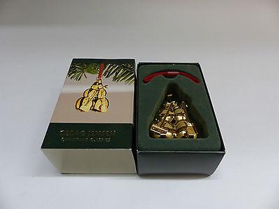 Georg Jensen Weihnachtsschmuck/ Ornament am Band 2007 GOLD Schneemänner 3411007 (Georg Jensen Schmuck)