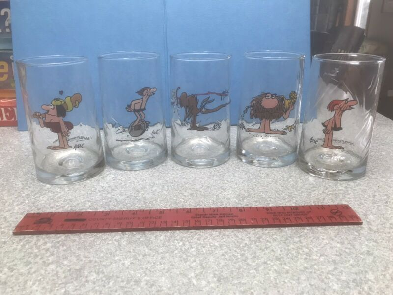 Set of 5 - BC Ice Age Comic Glasses - Arby