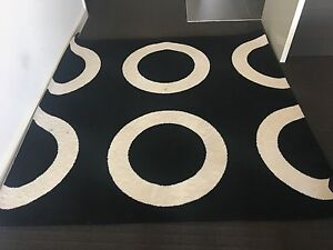 Modern black and white rug Wolli Creek Rockdale Area Preview