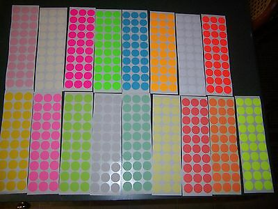 390 34 Circle Blank Garage Yard Sale Stickers Labels Price Tags Tabs 13 Colors