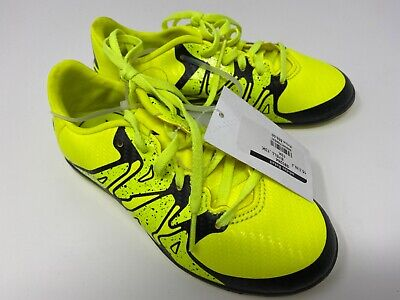 NEW Adidas X 15.3 Indoor Boys 2015 Soccer Cleats Yellow / Black Size 4