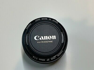 Canon EF 50mm f/1.4 USM Lens with lens hood. Excellent condition