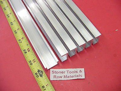6 Pieces 1x 12 Aluminum Channel 6063 X 18 Wall 60 Long T52 Mill Stock 30