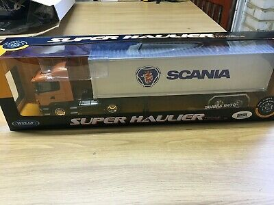 SCANIA R470 Diecast Model Truck GOLD WELLY 1:32 Scale Gift Collectable Gold Diecast Collectibles