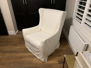 Restoration hardware swivel wingback chair
