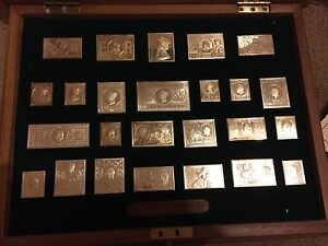 THE STAMPS OF ROYALTY SOLID SILVER CASED INGOT COLLECTION