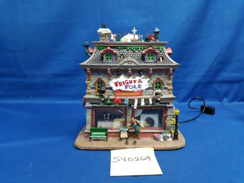 Lemax Spooky Town Fright & Fold Laundromat #25332 As-Is SV0269