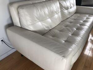 Sofa en cuir véritable sur 360 degrés