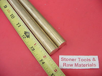 2 Pieces 58 C360 Brass Round Rod 14 Long Solid New Lathe Bar Stock .625 Od
