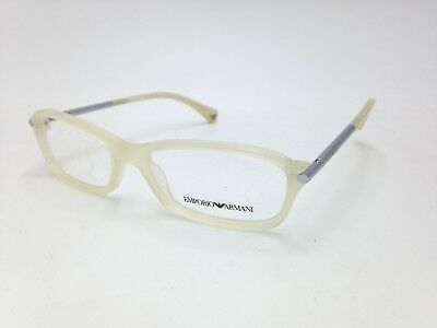 $300 EMPORIO ARMANI WOMENS BEIGE EYEGLASSES FRAMES GLASSES OPTICAL EYE EA 3006