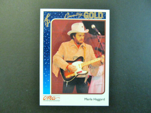 1992 STERLING CMA COUNTRY GOLD - FOIL VARIATION - MERLE HAGGARD ROOKIE CARD #15