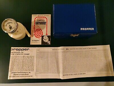 Vintage Propper Portable Spirometer 0-7 Liters Made In Germany Vguc