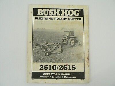 Operators Manual Bush Hog Flex Wing Rotary Cutter 26102615