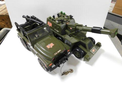 (LOT OF 2) 2001/02 GI Joe Motorized Jeep & Mobile Attack Launcher