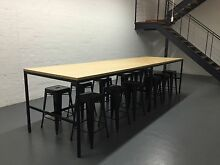 2 x Cafe Bar Meeting Designer Extra Large Table 2mtr Each Collingwood Yarra Area Preview