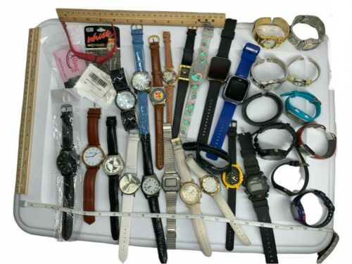 Lot of 29 Mixed Watches PART REPAIR RESELL Vintage & Modern Analog & Digital