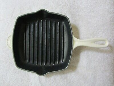 Le Creuset Enameld Cast Iron Square Grill Pan Skillet #20 8