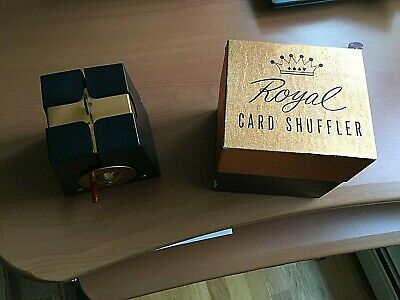 Top Of The Line Vintage With Original Box Royal Model Card Shuffler-Looks New