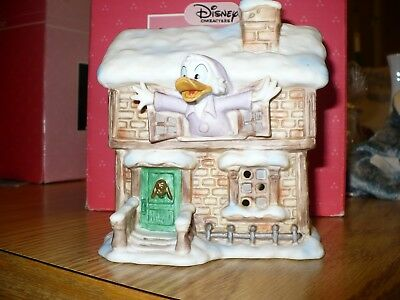 Schmid Mickey's Christmas Carol Disney's SCROOGE McDUCK House -Lighted