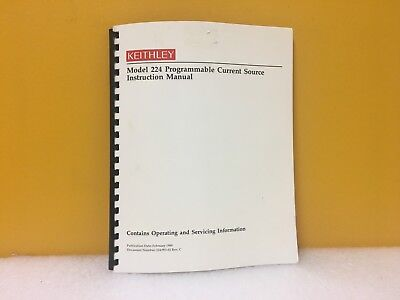 Keithley 224-901-01 224 Programmable Current Source Instruction Manual