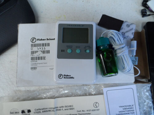 Fisher Scientific Digital Laboratory Thermometer Fahrenheit - 1 Count