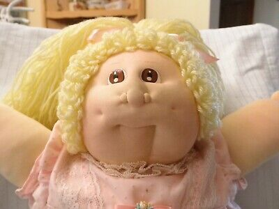 Vintage Original 1984 Soft Sculpture Little People Cabbage Patch Doll LILA KASSE