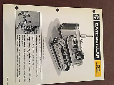 Caterpillar Cat D5 Bulldozer Brochure Original Antique Tractor New