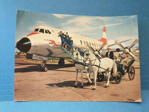 """Austrian Airlines, AUA """"The Friendly Airlines"""" und ein Wiener Flaker PC Postcard"""