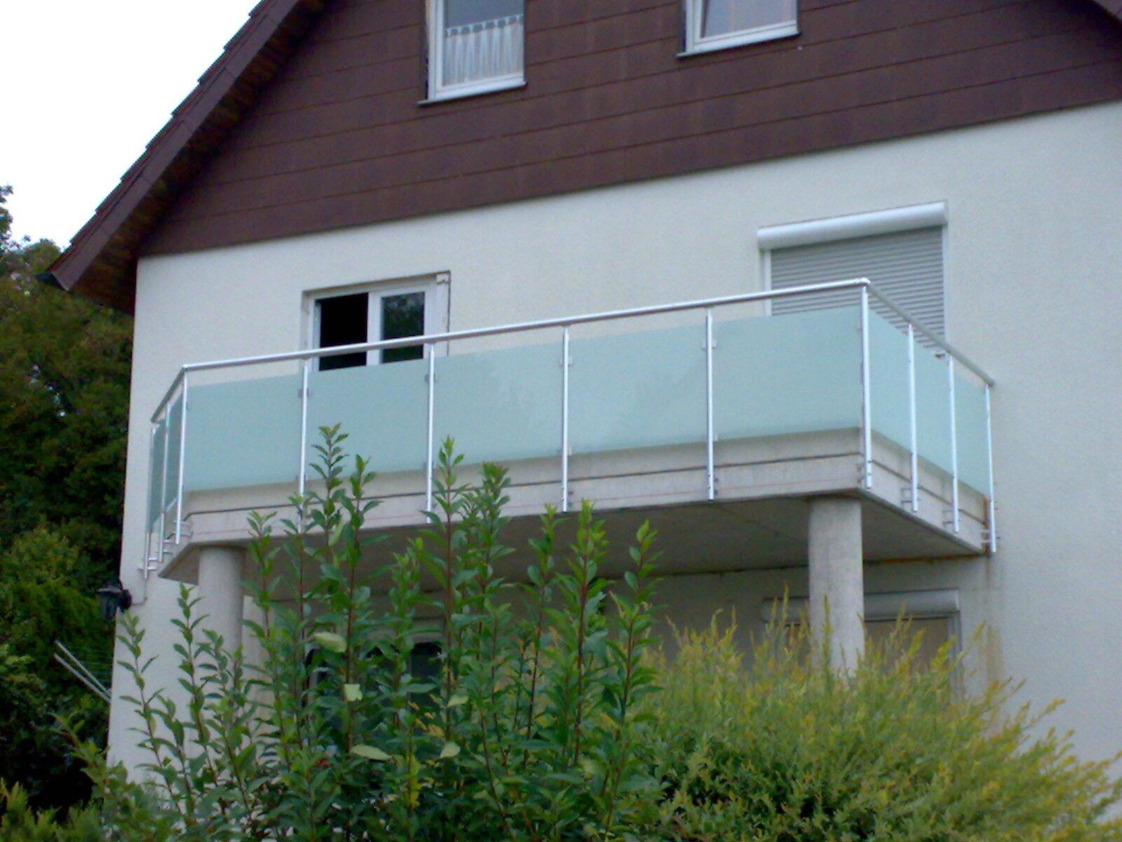 balkongel nder glas aluminium balkon gel nder vsg glas eur 99 90 picclick de. Black Bedroom Furniture Sets. Home Design Ideas
