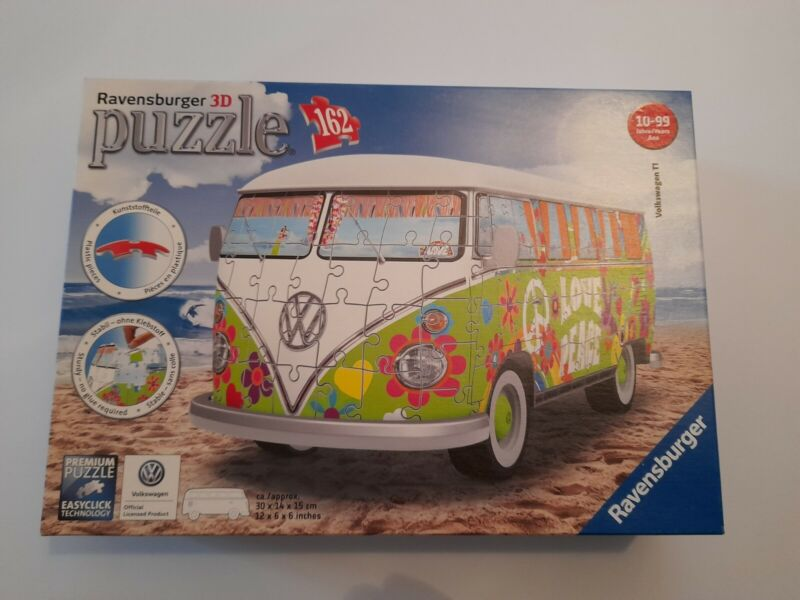 Ravensburger 3D 162 Piece Puzzle Volkswagen T1 Campervan Woodstock 50th