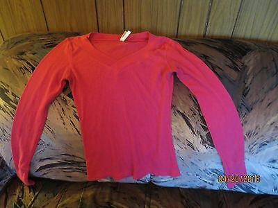 Womens' COLOR STORY HOT PINK  T-Shirt Size XS WITH LONG (History Womens Pink T-shirt)