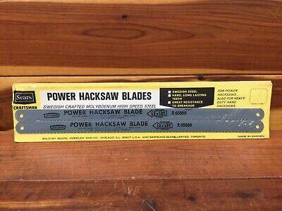 Nos Sears Craftsman Power Hacksaw Blade 65889 12x18t High Speed Steel - Sweden