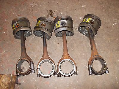 Ford 8n Tractor Engine Motor 4 More Power Pistons Rings Rod Rods Piston Ring