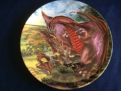 """Danbury Mint The Dragons Of Enchantica """"Dragon Of The Fields """" (some scratches)"""