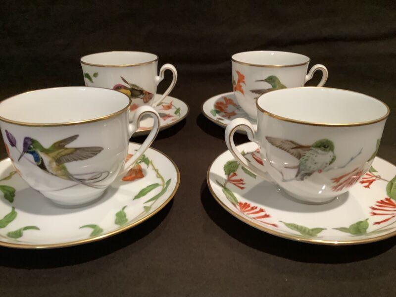 Franklin Mint Hummingbird Teacups 1980