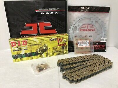 TRIUMPH BONNEVILLE 865 CHAIN AND SPROCKET KIT 2006 TO 2014 DID GOLD X