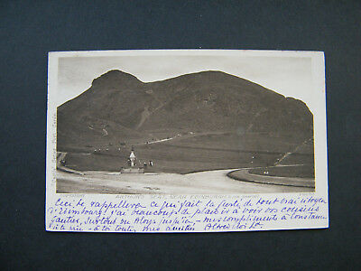 Early Castle Series PC of Arthurs Seat, Edinburgh. Posted 1906.