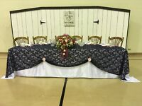 Bridal table back drop FOR RENT
