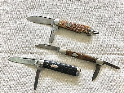 Antique/Vintage Pocket Knife Lot of 3 - REMINGTON UMC (JOHNSON ENDICOTT SHOES)