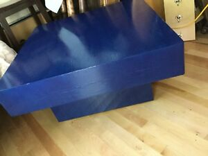 Navy blue rustic coffee table-