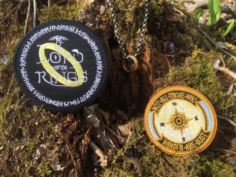 2 Lord of the Rings Patch LOT Not All Those Who Wander are Lost Iron On Patches