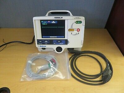 Physio-control Lifepak 20 Monitor 3 Lead Ecg Pacer Analyze New Battery 16822