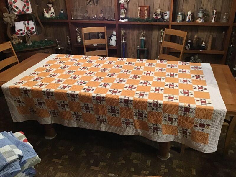 Vintage Quilt....Ohio Star....Handstitched