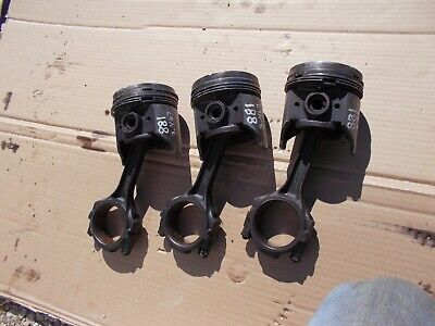 Ford 881 800 Tractor Original 3 Gas Engine Motor Piston Pistons Rods Ring Rod