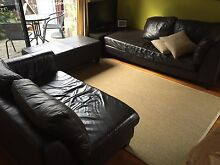Three Piece Leather Lounge Wollongong 2500 Wollongong Area Preview