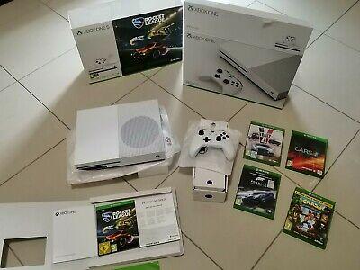 Xbox One S, con Fortnite + altri 5 giochi, garanzia fino al 2022, scatola,guarda