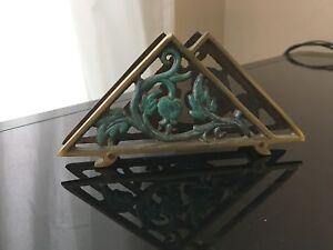 Small vintage brass napkin holder