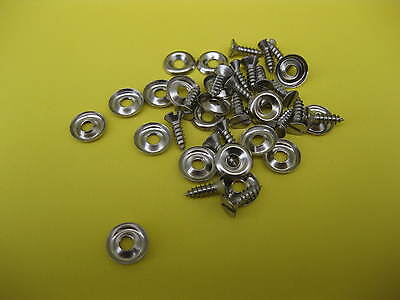 20 X No 6s CUP WASHERS  COUNTER SUNK SCREWS ALL CARS GENERAL INTERIOR TRIM