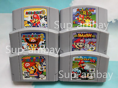 Super Mario Kart 64 Mario Party1 2 3 Game Card Cartridges For Nintendo 64 N64 Us